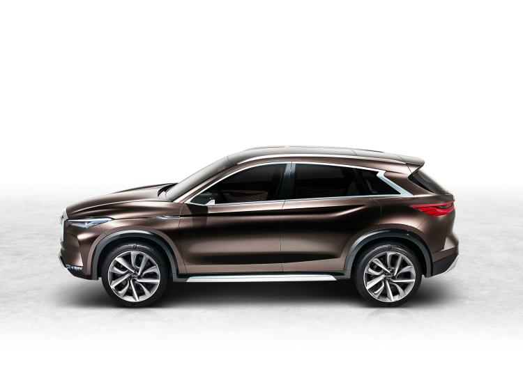 2018 Infiniti QX50 side view