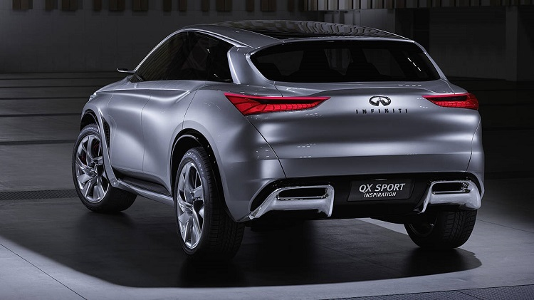 2018 Infiniti QX70 rear view