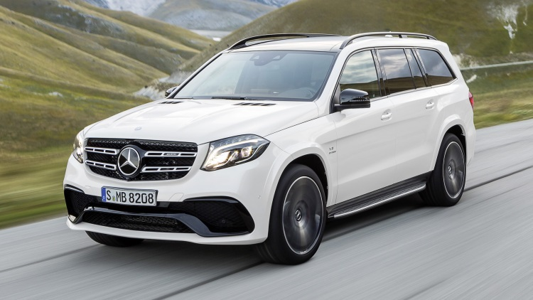 2018 Mercedes GLS front view