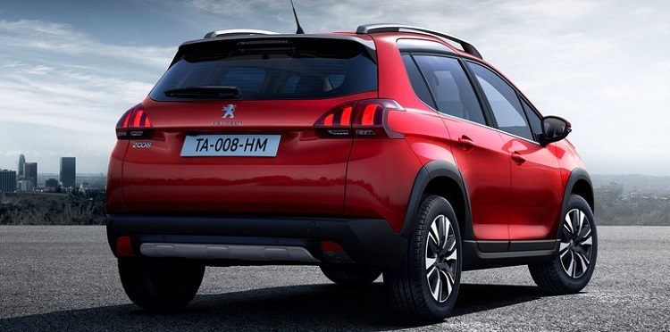 2018 Peugeot 2008 rear view