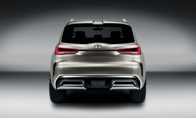 2018 Infiniti QX80 rear view