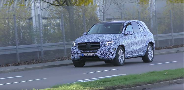 2019 Mercedes GLE spy shot