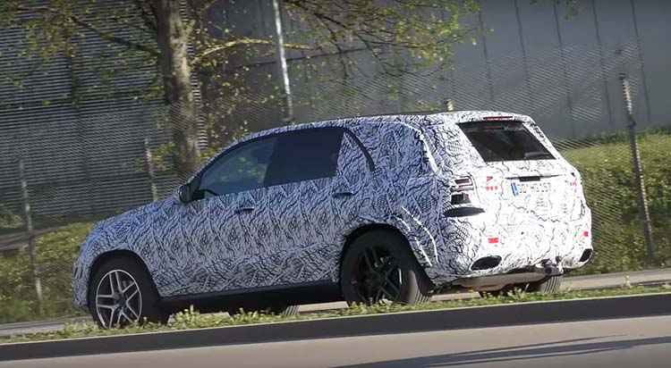 2019 Mercedes GLE spied