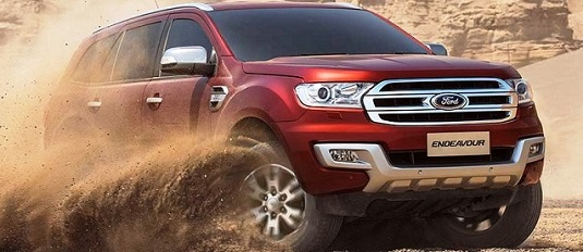 2018 ford endeavour front view
