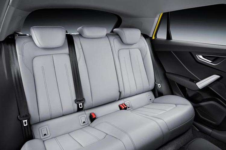 2019 Audi Q2 rear seat