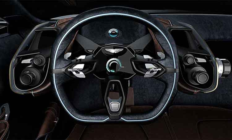 Aston Martin DBX concept steering wheel