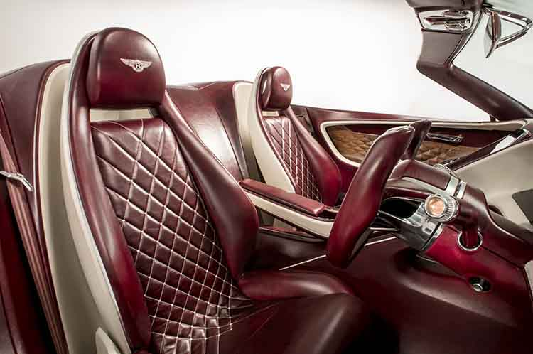 Bentley electric SUV concept interior