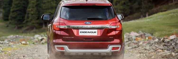 2019 Ford Endeavour rear