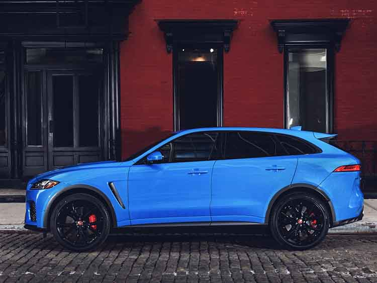 2019 Jaguar F-Pace SVR side