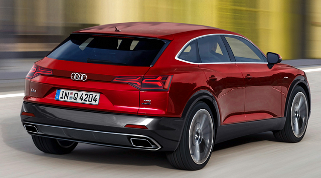 2020 Audi Q4 rear view