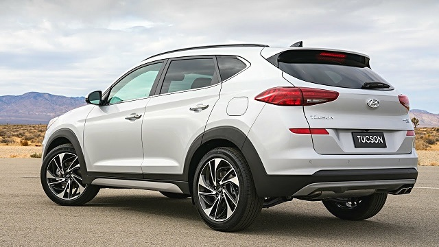 2020 Hyundai Tucson rear view