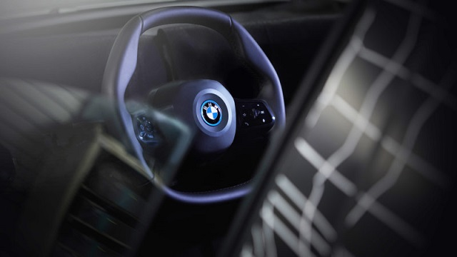 2021 BMW iNext steering wheel