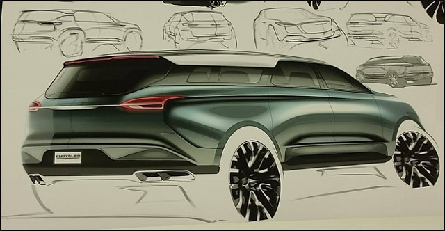 2021 Chrysler Aspen drawing rear
